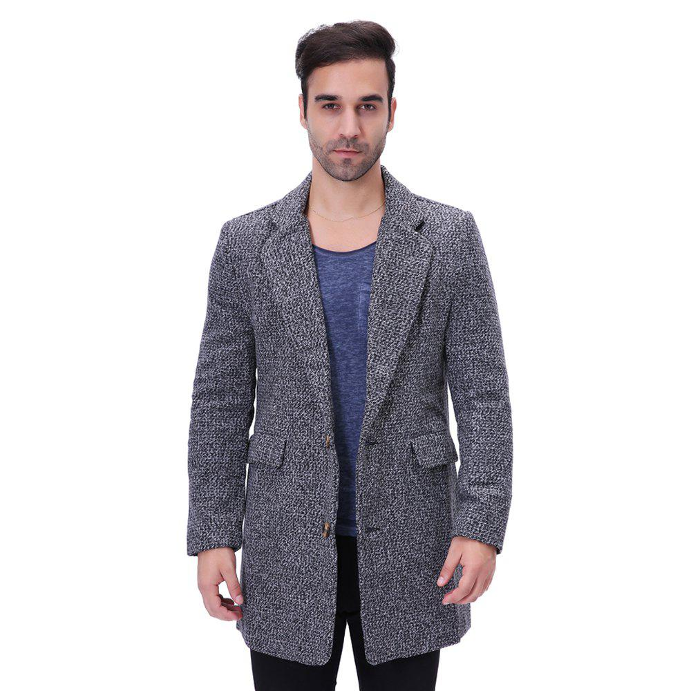 Hot Man Lapel Fashion All-match Long Coat