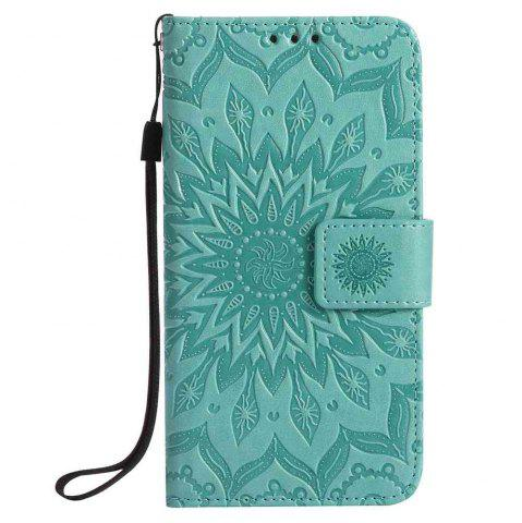Discount Embossed Sun Flower PU TPU Phone Case for Samsung Galaxy S7
