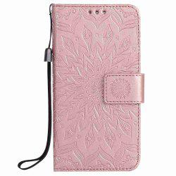 Embossed Sun Flower PU TPU Phone Case for Samsung Galaxy S7 -