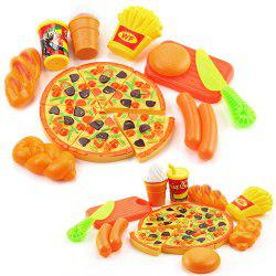 15PCS Plastic Food Pizza Kitchen Pretend Play Toy for Kids -