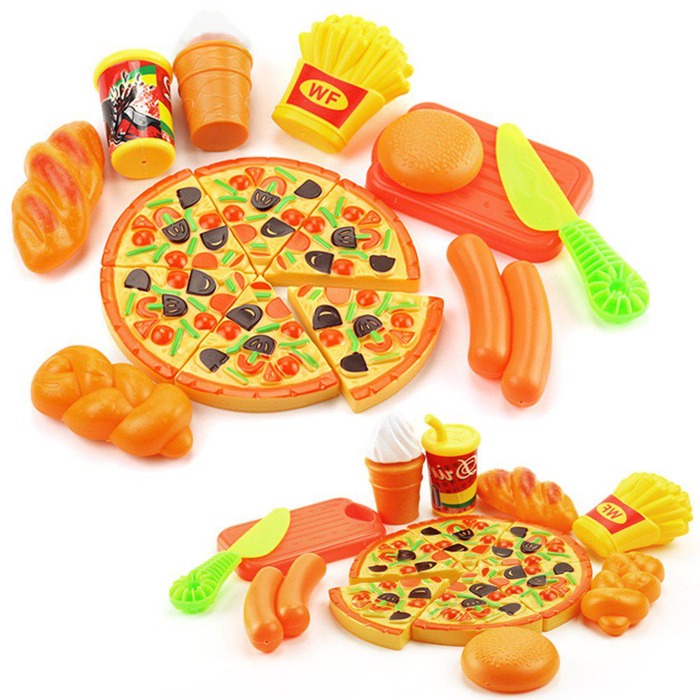 Hot 15PCS Plastic Food Pizza Kitchen Pretend Play Toy for Kids