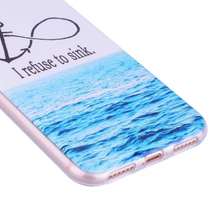 Sea Pattern Soft TPU Clear Case for iPhone X -