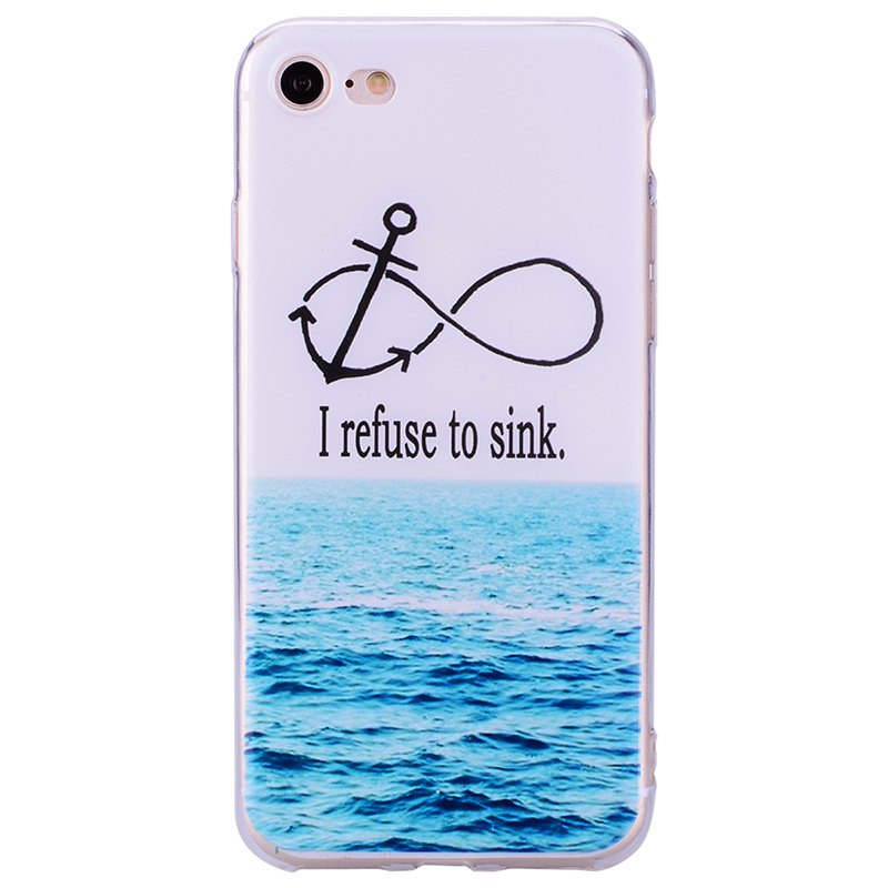 Coque transparente motif TPU Sea Pattern pour iPhone 7/8