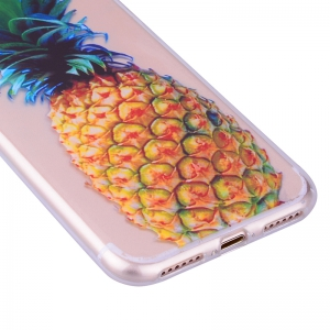 Pineapple Pattern Soft TPU Clear Case for iPhone 7 / 8 -