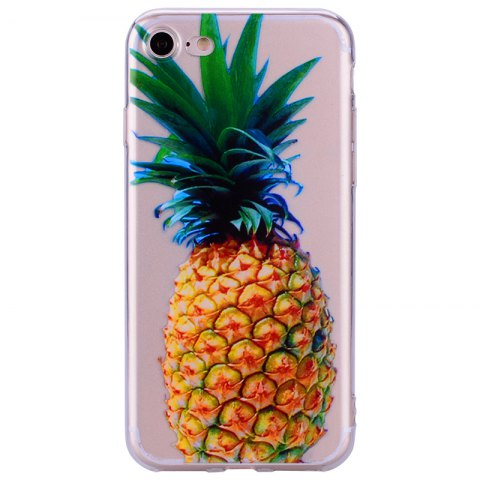 Trendy Pineapple Pattern Soft TPU Clear Case for iPhone 7 / 8
