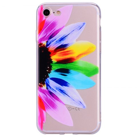 Outfit Sunflower Pattern Soft TPU Clear Case for iPhone 7 / 8