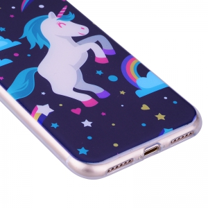 Pegasus Pattern Soft TPU étui transparent pour iPhone 7/8 -