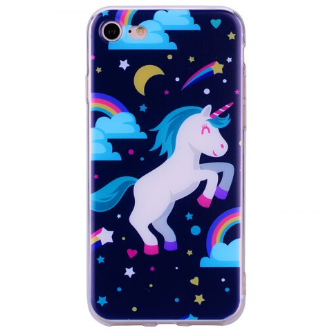 Pegasus Pattern Soft TPU étui transparent pour iPhone 7/8