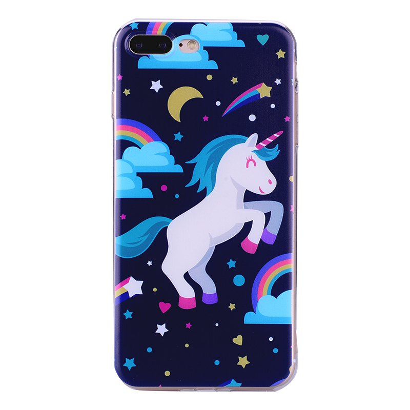 Outfit Pegasus Pattern Soft TPU Clear Case for iPhone 7 Plus / 8 Plus