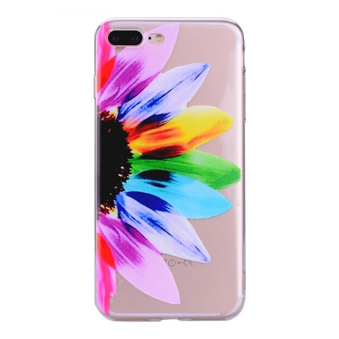 Shop Sunflower Pattern Soft TPU Clear Case for iPhone 7 Plus / 8 Plus
