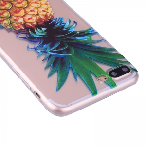 Pineapple Pattern Soft TPU Clear Case for iPhone 7 Plus / 8 Plus -