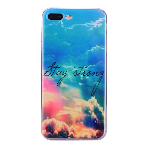 Outfit Heaven Pineapple Pattern Soft TPU Clear Case for iPhone 7 Plus / 8 Plus