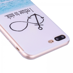 Coque transparente motif TPU Sea Pattern pour iPhone 7 Plus / 8 Plus -