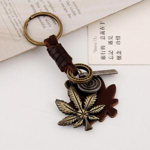 Men's Vintage Leaf Pattern Durable King Ring Accessory -
