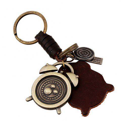 Shops Men's Vintage Fashion Creative Alarm Clock Key Rings