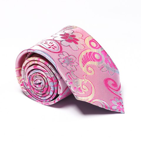 Best Fashion Men's Business Necktie Flower Cashews Pattern Floral All Match Tie Accessory