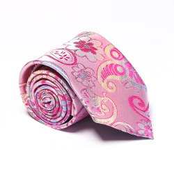 Fashion Men's Business Necktie Flower Cashews Pattern Floral All Match Tie Accessory -