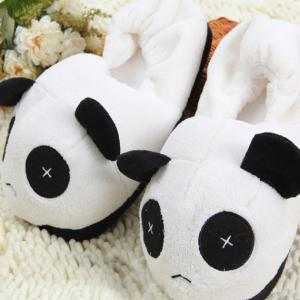 Cute Panda  Winter Home Slippers with High Quality Coral Velvet Upper -