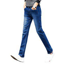 Men's Casual Pant Zipper Ventilate Regular Slim Mid Waist Full Length Pant -