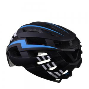 L-003 Bicycle Helmet Bike Cycling Adult Adjustable Unisex Safety Equipment with Visor Len -