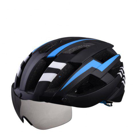 Chic L-003 Bicycle Helmet Bike Cycling Adult Adjustable Unisex Safety Equipment with Visor Len