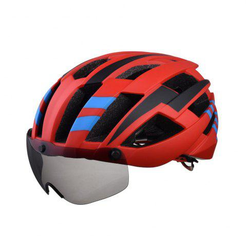 Fancy L-003 Bicycle Helmet Bike Cycling Adult Adjustable Unisex Safety Equipment with Visor Len
