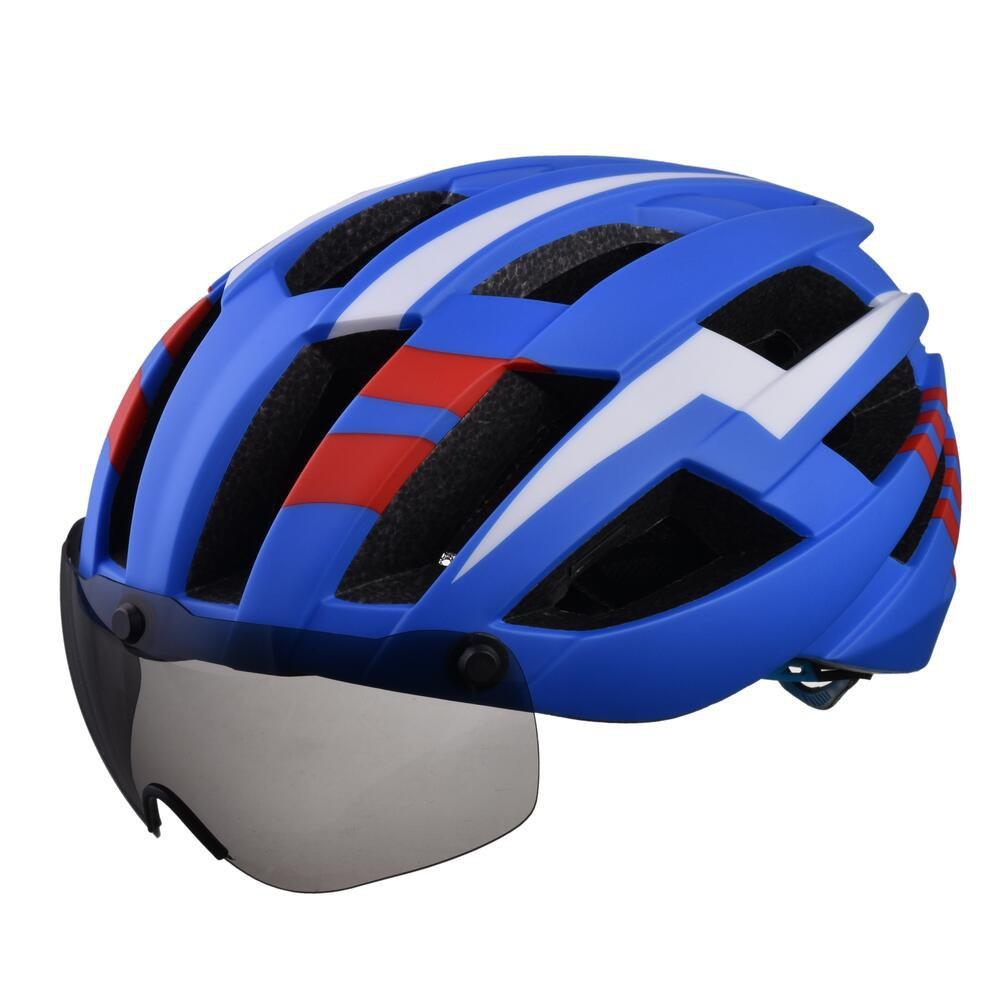 Discount L-003 Bicycle Helmet Bike Cycling Adult Adjustable Unisex Safety Equipment with Visor Len