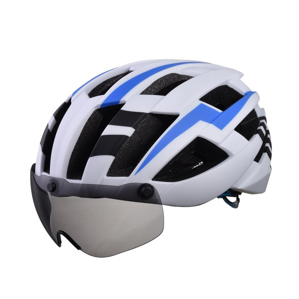 Trendy L-003 Bicycle Helmet Bike Cycling Adult Adjustable Unisex Safety Equipment with Visor Len