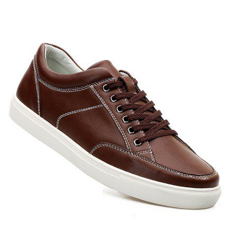 New Men'S Leather Casual Skate Shoes