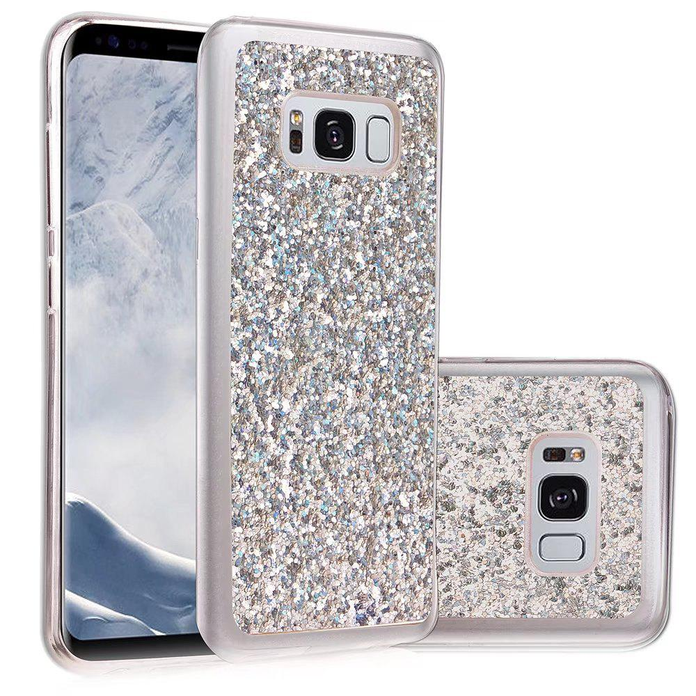 Shop Soft Fashion Bling Shining Powder Sequins Case for Samsung Galaxy S8 Plus