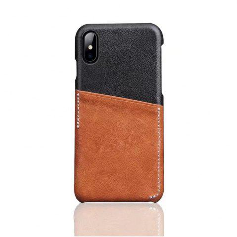 Outfits For iPhone X Luxury Leather with Card Mobile Phone Shell Fitted Case
