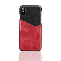 For iPhone X Luxury Leather with Card Mobile Phone Shell Fitted Case -