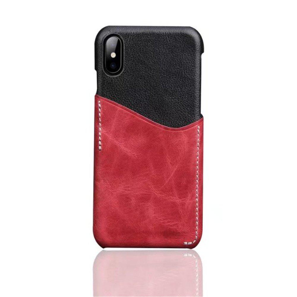 New For iPhone X Luxury Leather with Card Mobile Phone Shell Fitted Case