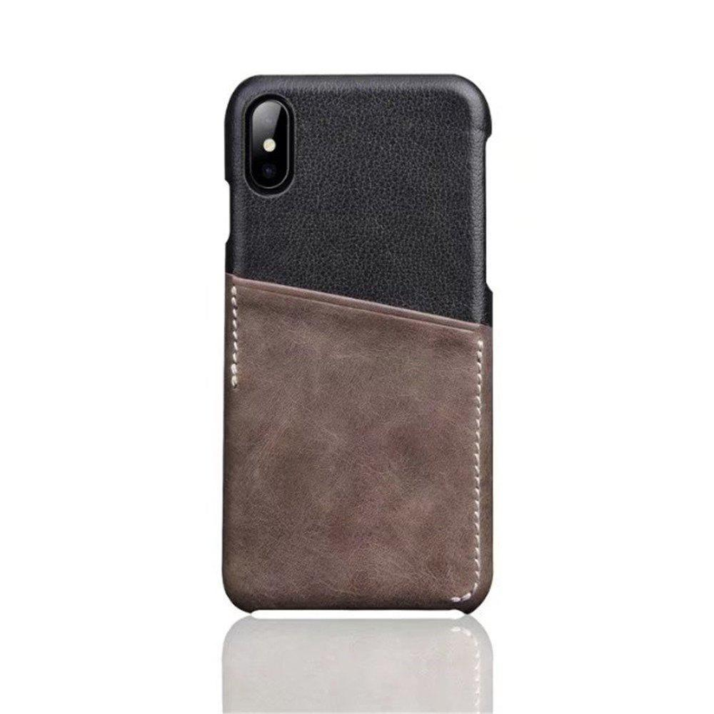 Store For iPhone X Luxury Leather with Card Mobile Phone Shell Fitted Case