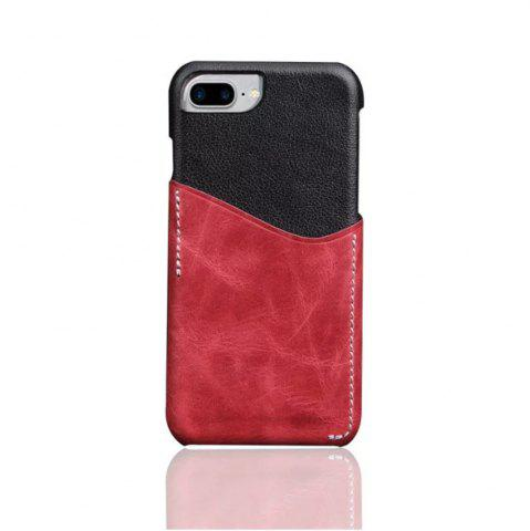 Unique For iPhone 8 Plus / 7 Plus / 6 Plus Luxury Leather with Card Mobile Phone Shell  Fitted Case