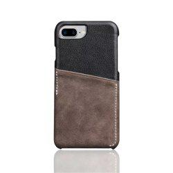 For iPhone 8 Plus / 7 Plus / 6 Plus Luxury Leather with Card Mobile Phone Shell  Fitted Case -
