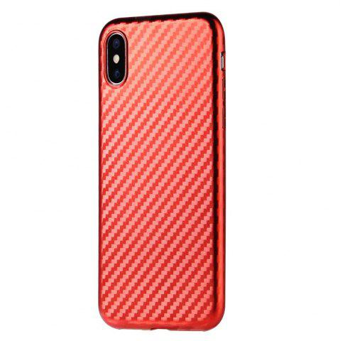 Chic Slim Protective Case Cover with Shock-Absorption and Carbon Fiber for iPhone X