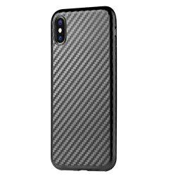 Slim Protective Case Cover with Shock-Absorption and Carbon Fiber for iPhone X -