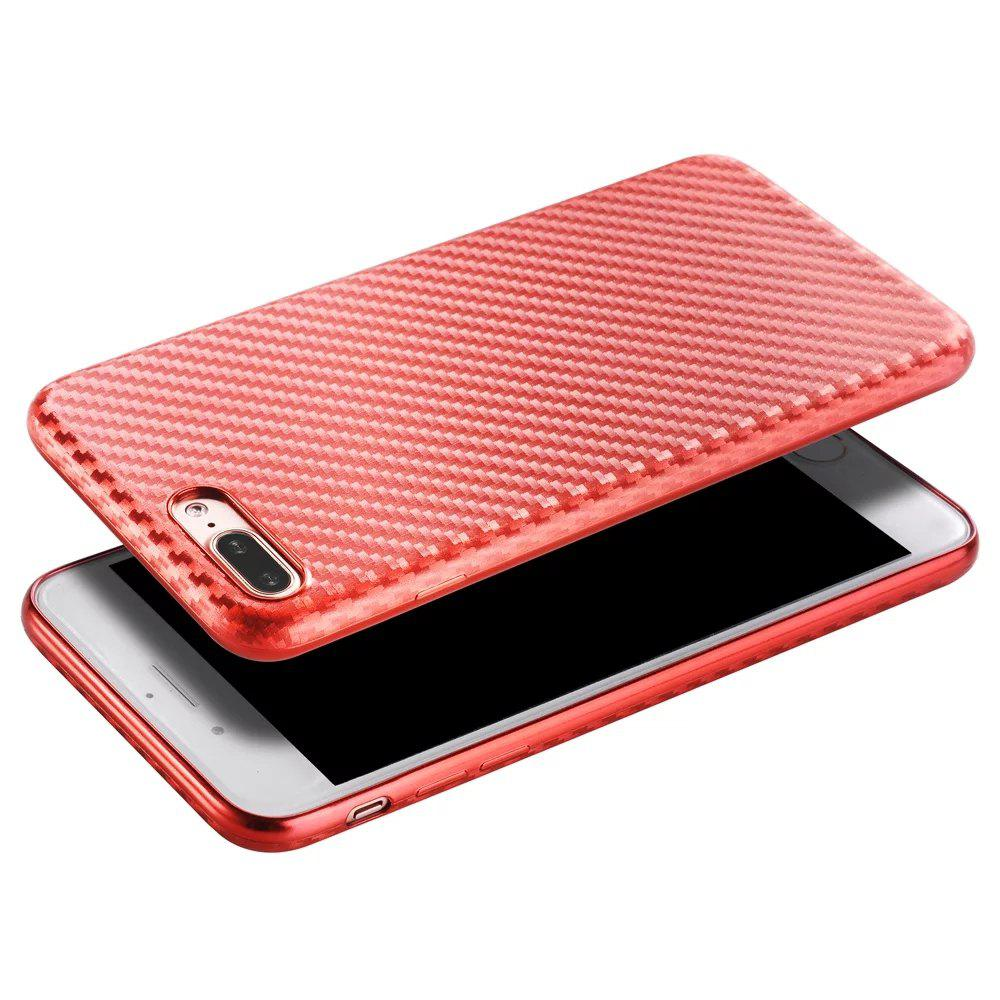 New Slim Protective Case Cover with Shock-Absorption and Carbon Fiber for iPhone 7 Plus /8 Plus