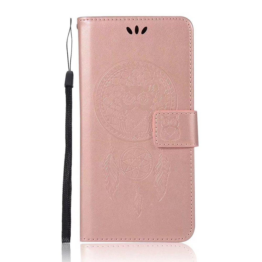 Store Owl Embossed Pattern PU Leather Wallet Case for Huawei P10 Plus