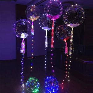 Colorful Transparent Balloon Shining Led String Light RoseGal.com