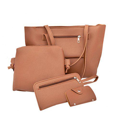 New Women's Bags Set Solid Color Faddish Versatile Bag
