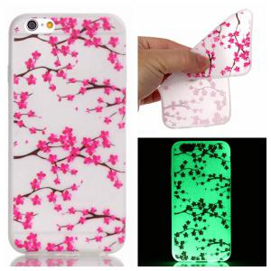 Plum Blossom Luminous Ultra Thin Slim Soft TPU Silicone Case for iPhone 6 / 6s -