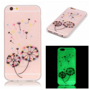 Colorful Dandelion Luminous Ultra Thin Slim Soft TPU Silicone Case for iPhone 6 / 6s -