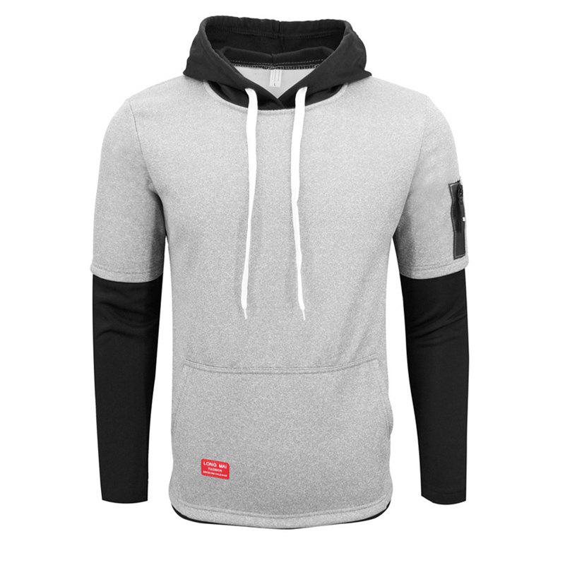 Men S Spring and Autumn Sports and Leisure Cotton Fake Two Hoodies Trendy Casual Long Sleeved Hoodie 239380210