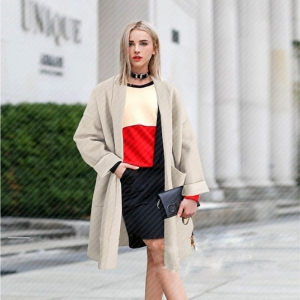 Lapel Double Pocket Coat -