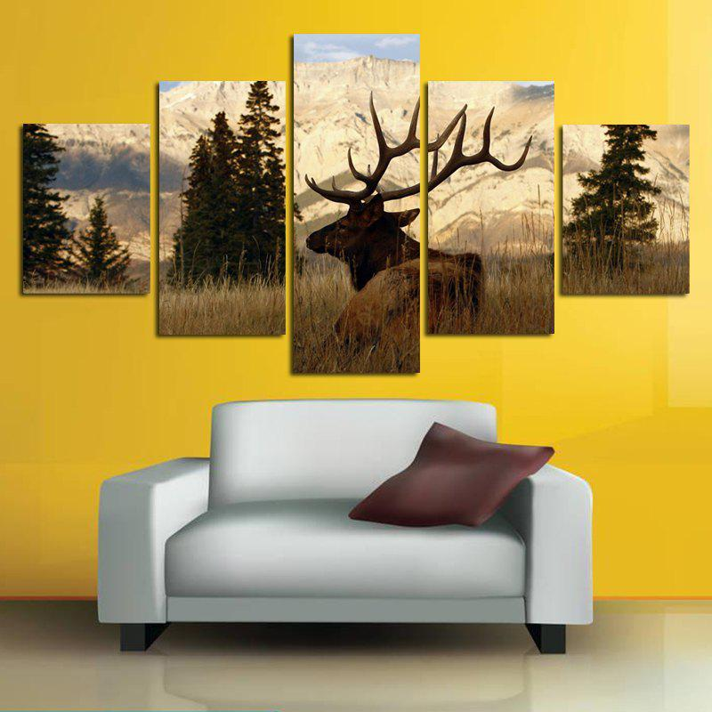 Colorful Modern Canvas Prints Frameless Home Wallart Decoration 5pcs ...