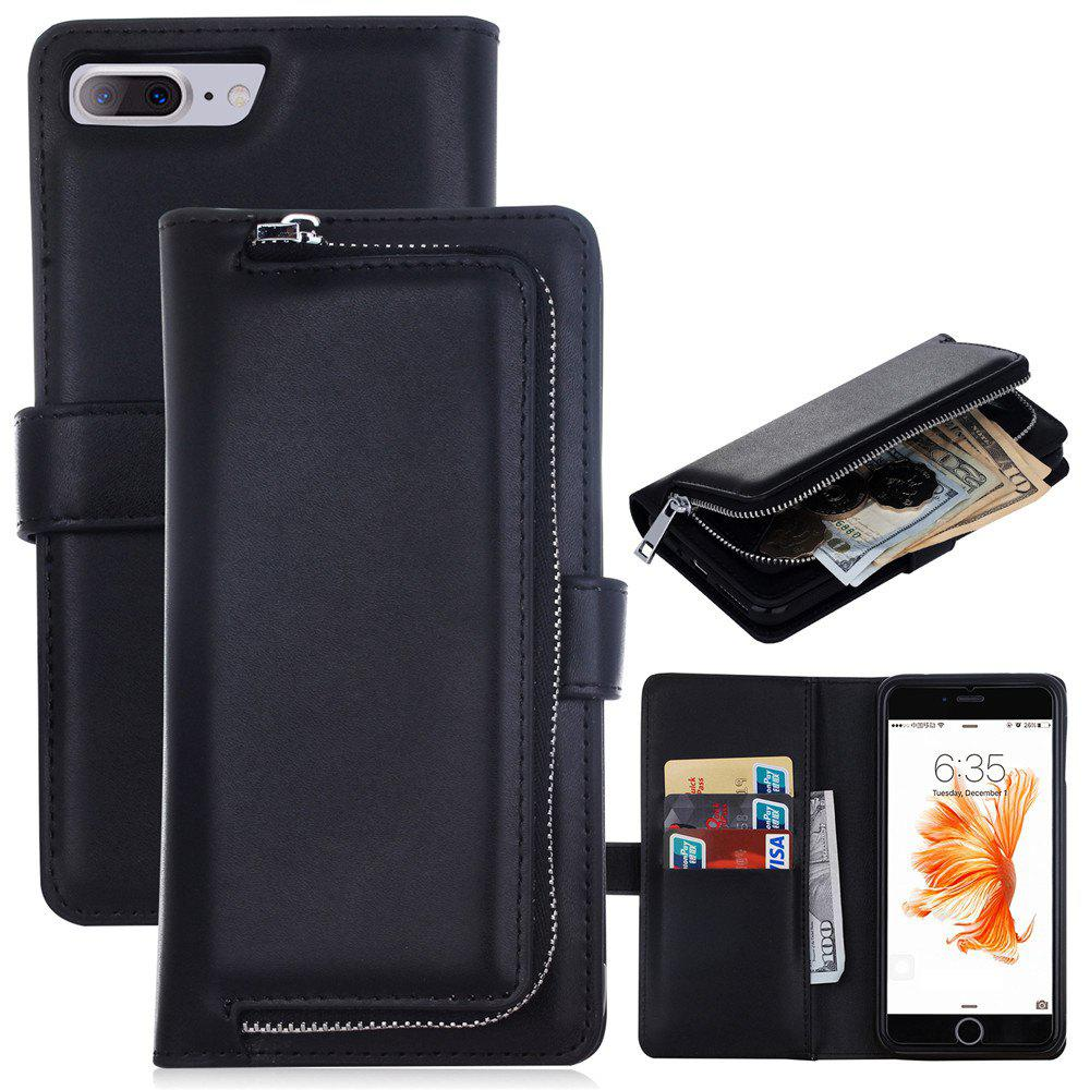 Affordable Leather Wallet with Card Holder Case Cover for iPhone 7 / 8 Plus