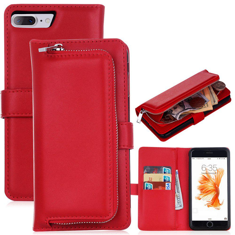 Unique Leather Wallet with Card Holder Case Cover for iPhone 7 / 8 Plus