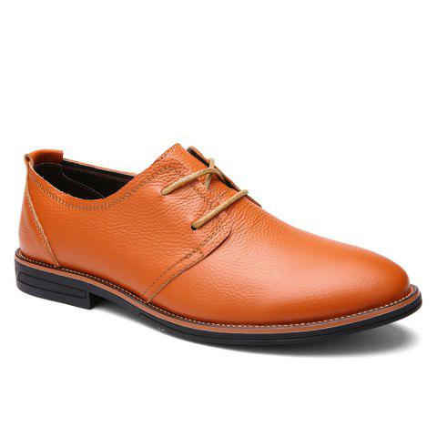 Hot Business Leather Shoes Leisure Lace-Up